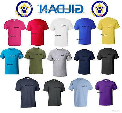 Gildan 5000 Adult Heavy Cotton T-Shirt Plain Man 100% Cotton