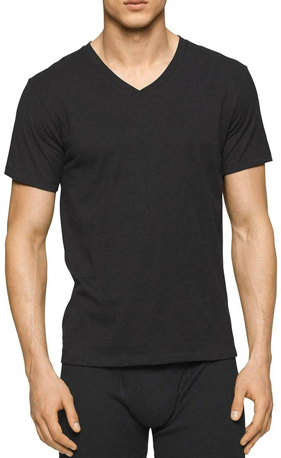 Calvin Klein Mens Pack Undershirts V-Neck Crew Neck T Fit