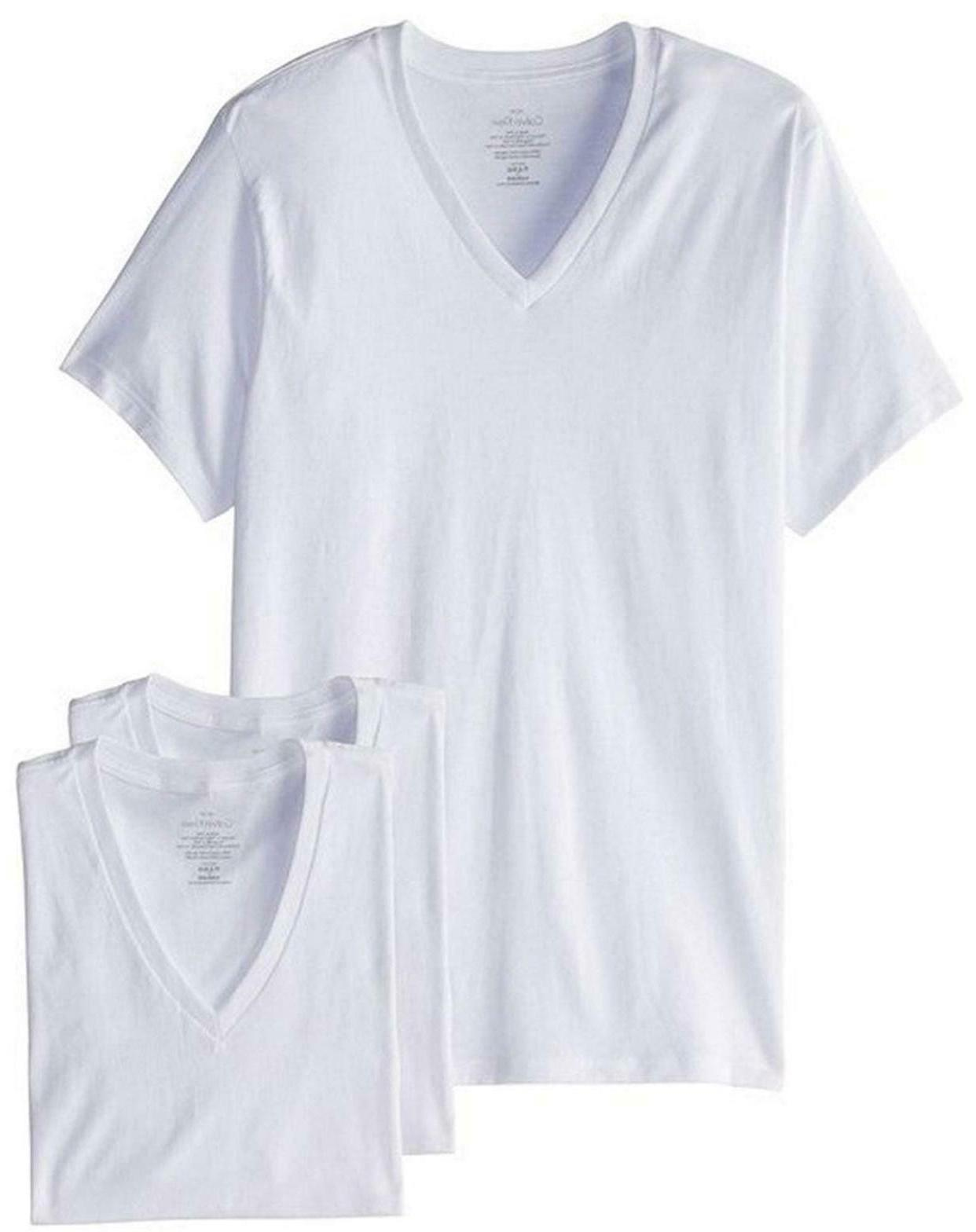 Calvin Pack Undershirts Neck T Fit