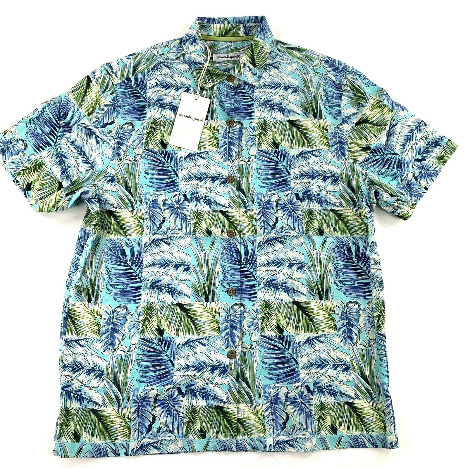 Tommy Bahama Camp Shirt Blue Orchid 100
