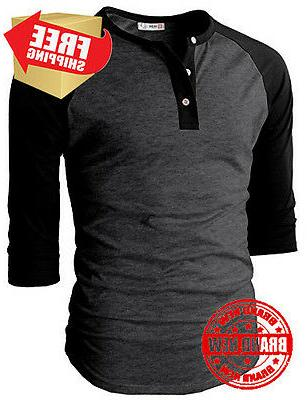 H2H Mens Fit Sleeve T Shirts US M