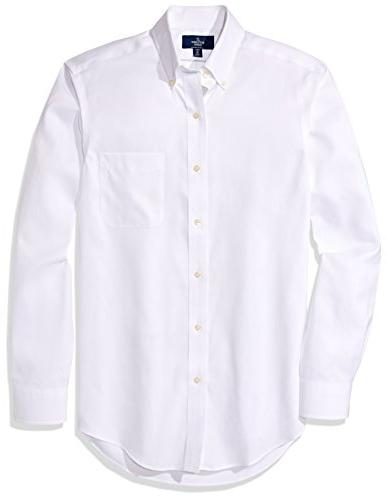 "BUTTONED DOWN Fit Non-Iron Dress Shirt 17"" Neck 33"""