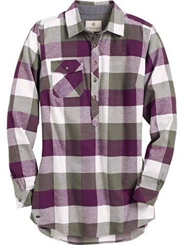 firelight popover flannel tunic army