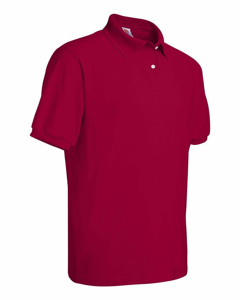 Hanes Tee Jersey Sport Mens Polo shirt from S-6XL