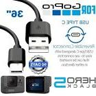 for GoPro Hero 6 5 Session 3FT Type C USB Sync Charge Cable
