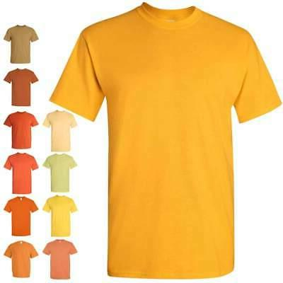 Gildan Heavy Cotton Short Sleeve Mens Yellow/Orange T Shirts