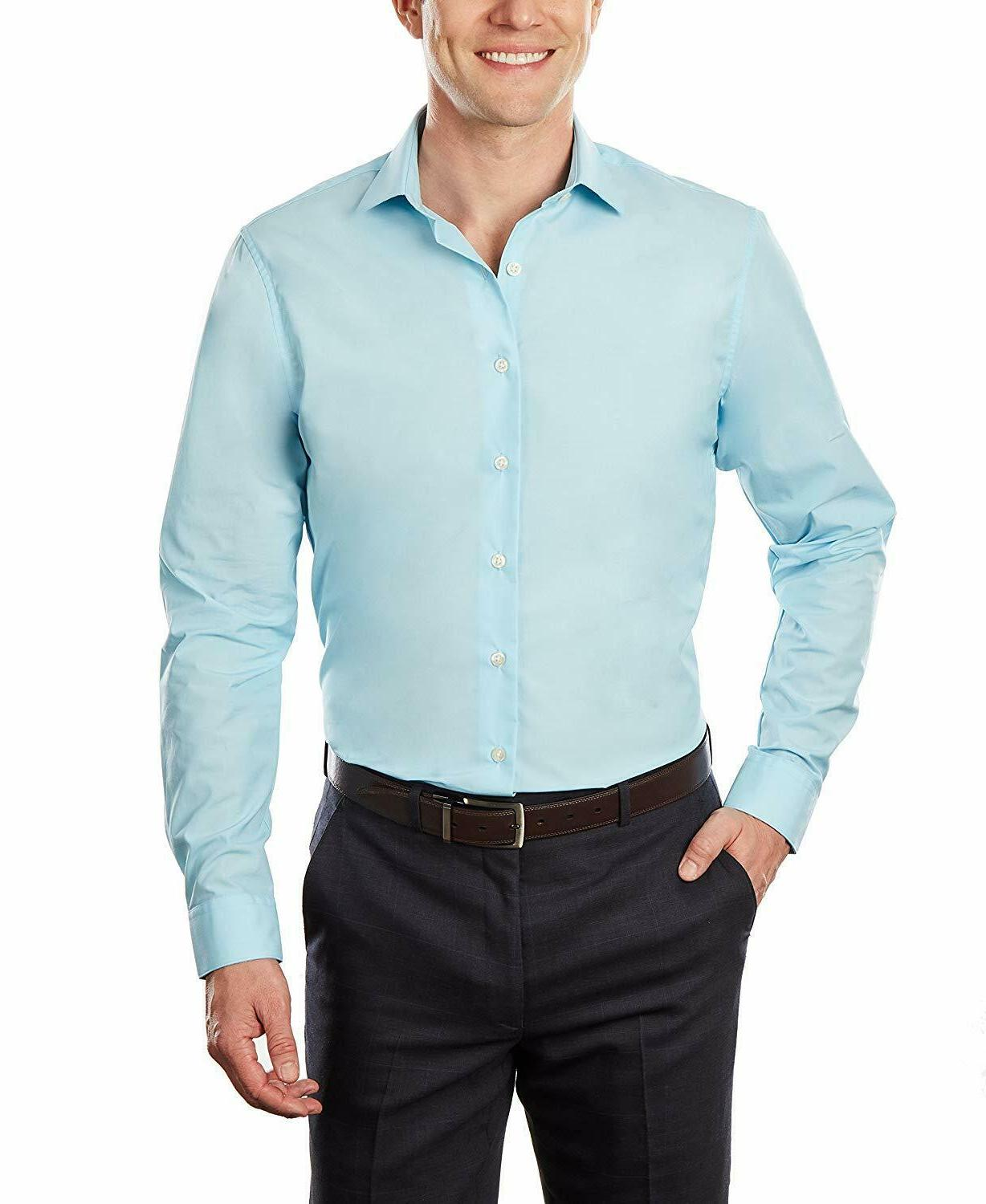 Kenneth Unlisted Men's Dress Shirt Slim Solid
