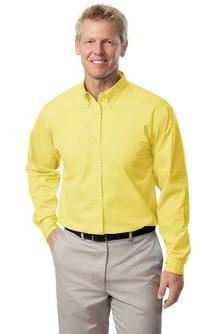 Port Authority Long Sleeve Easy Care Shirt. S608-Yellow-2XL