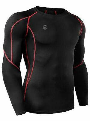 Neleus Pack Compression Shirts5030Black Strip...