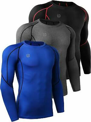 men s 3 pack compression workout long