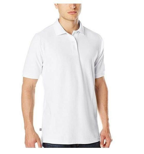 LEE Uniforms Men's Classic Fit Short Sleeve Polo Shirt - WHI