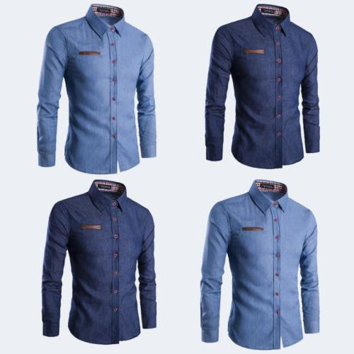 Men's Sleeve Casual Fit Dress Tops