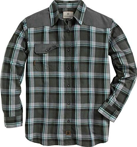 men s midnight chalet flannel charcoal pacific
