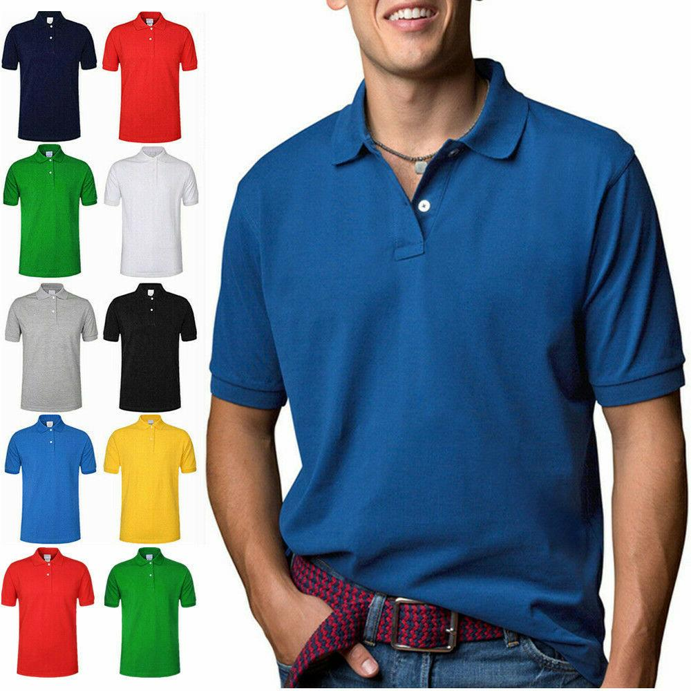 men s polo shirt golf sports cotton