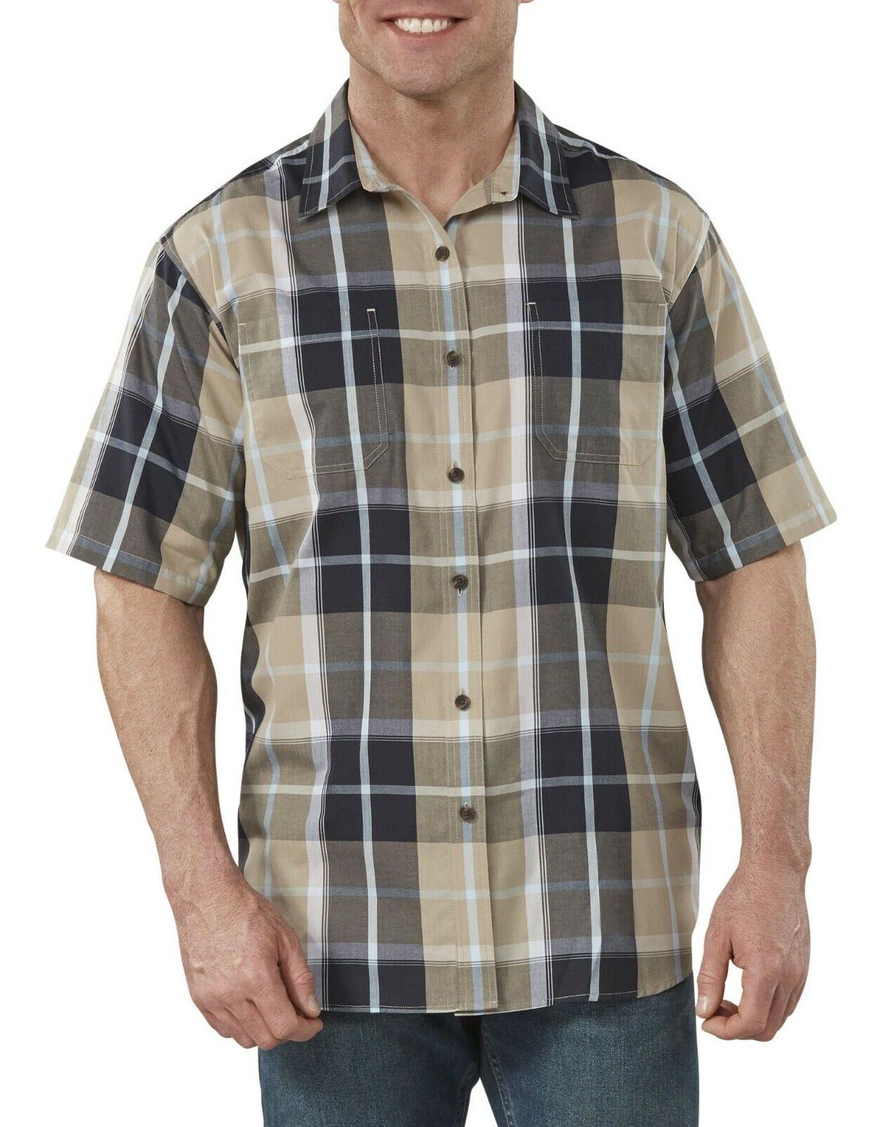"""Dickies Men""""s Shirt Icon Yarn Dyed Camp Relaxed Fit All Colo"""