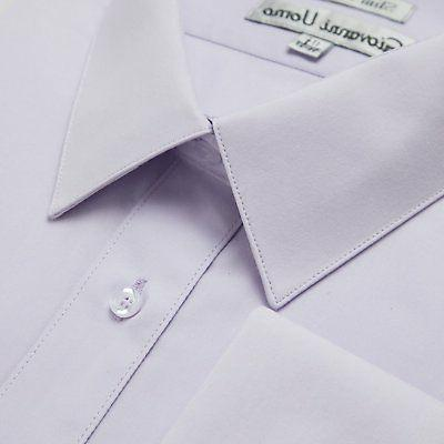 Gentlemens Fit French Solid Dress Shirt