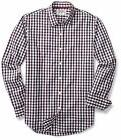 Goodthreads Men's Slim-Fit Long-Sleeve Checked Shirt, Red Ta