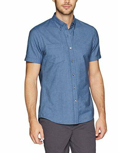 Goodthreads Men's Slim-Fit Short-Sleeve Solid Oxford Shirt w