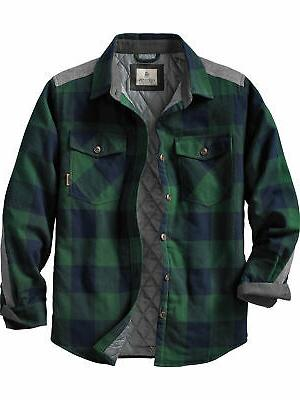 men s woodsman quilted shirt jacket