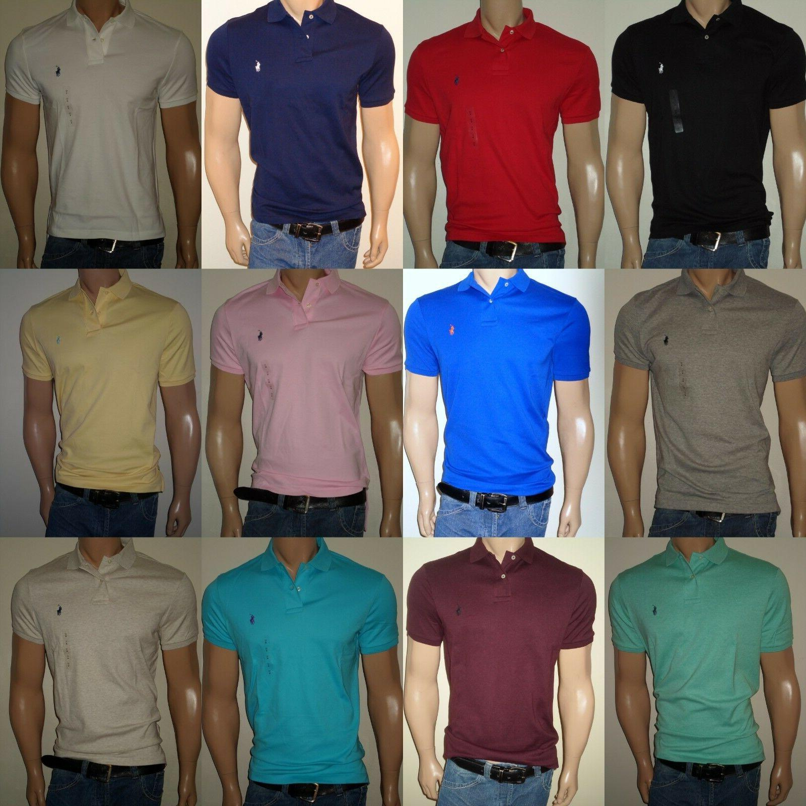 MEN POLO RALPH LAUREN SOFT TOUCH INTERLOCK POLO SHIRTS STAND
