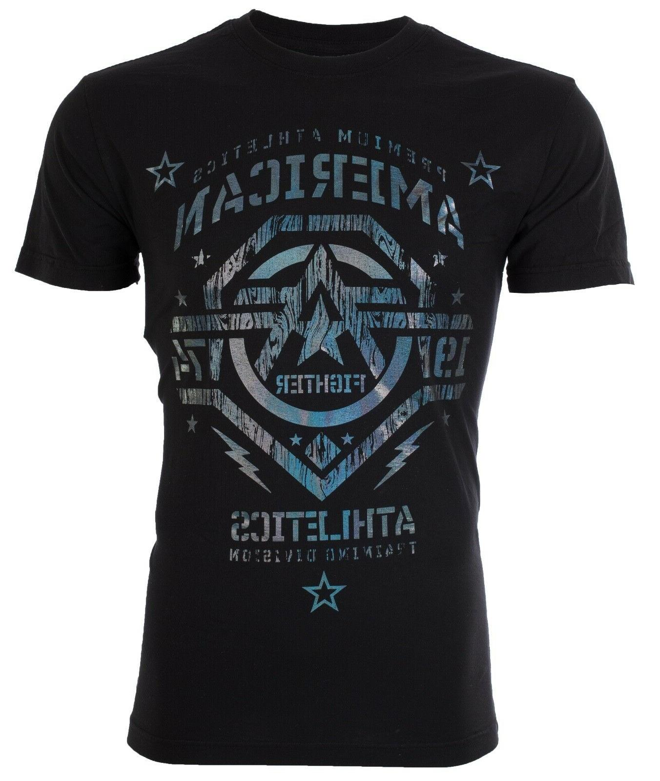 American Fighter Mens T-Shirt NEW MEXICO Black Hologram S-4XL