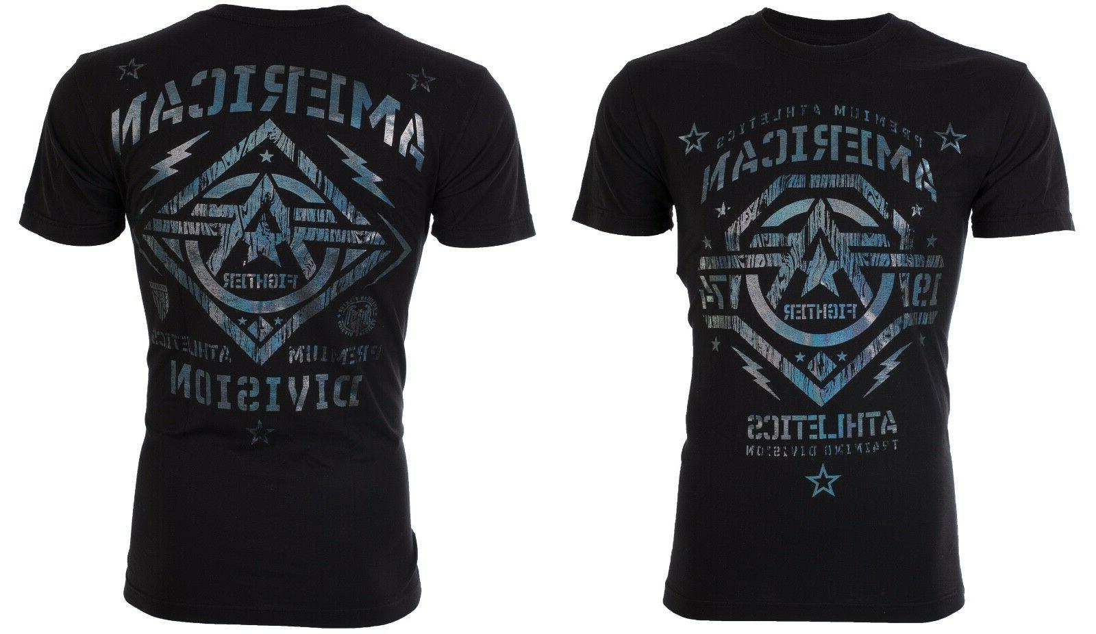 American Fighter T-Shirt NEW Hologram