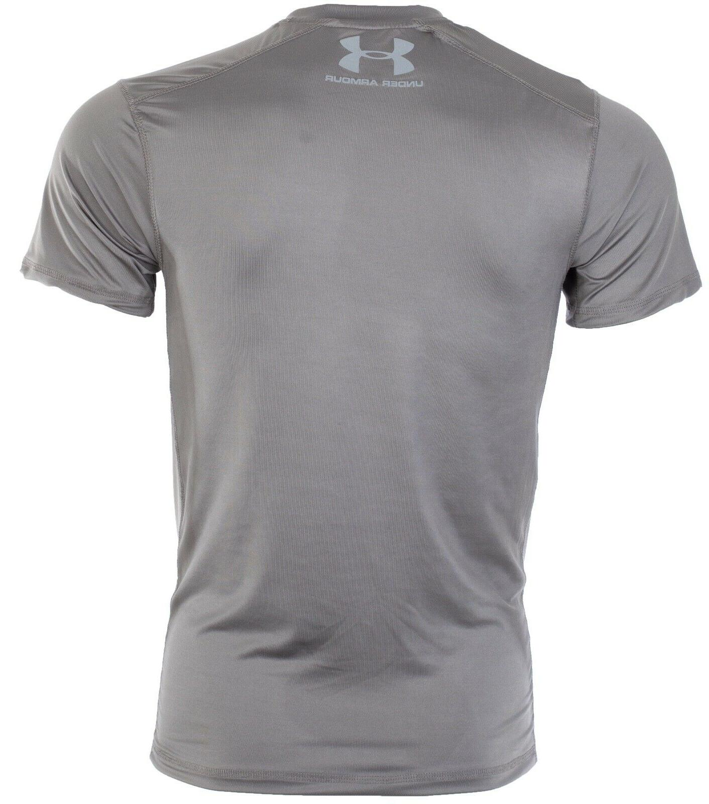 UNDER ARMOUR Mens Athletic T-Shirt SOLID Semi Fitted