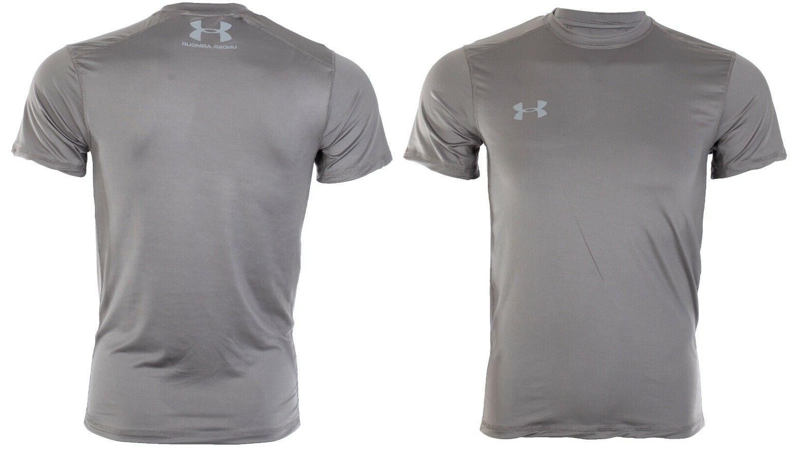 UNDER Mens T-Shirt SOLID CHARCOAL Semi Fitted $40