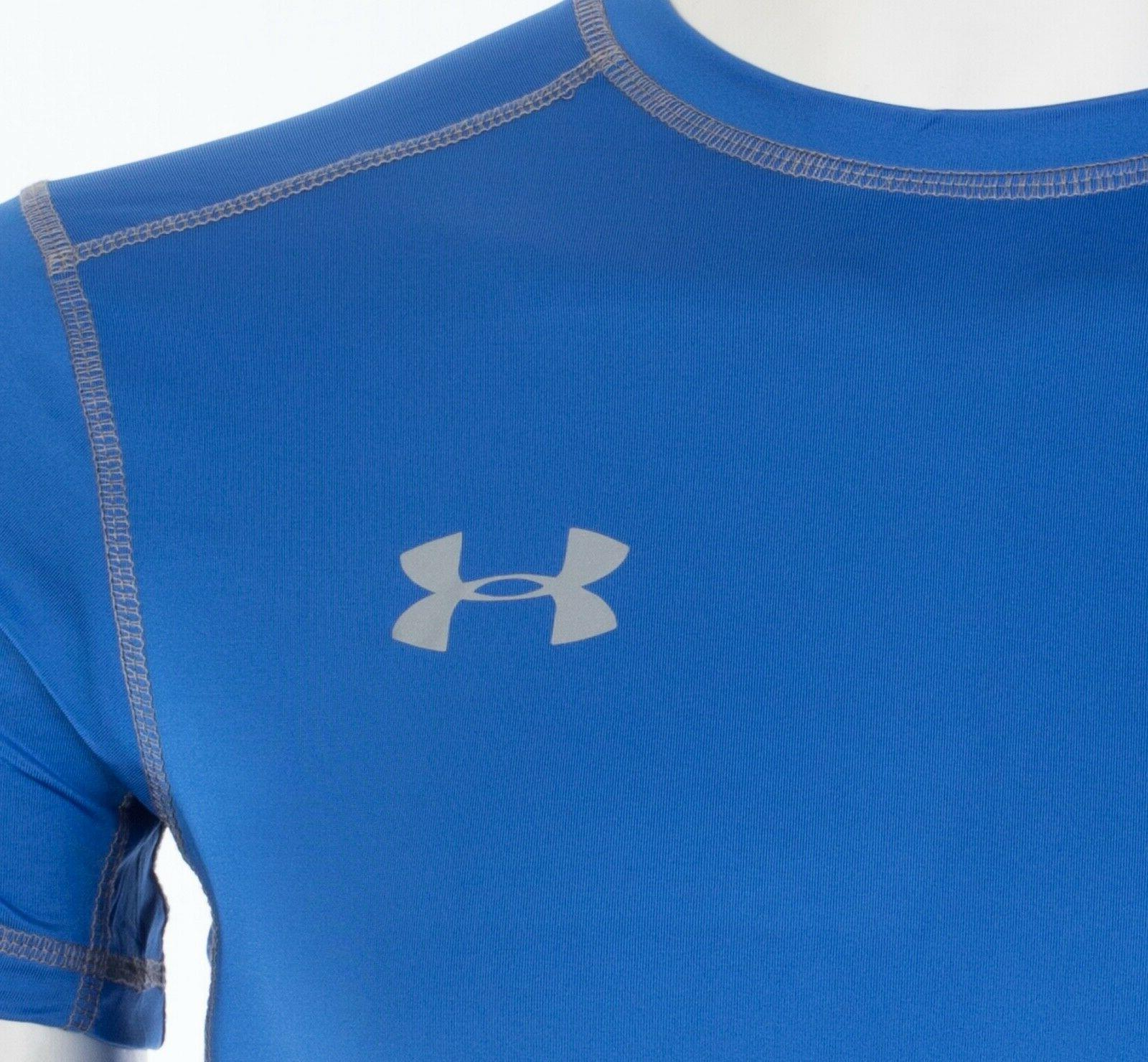 UNDER ARMOUR Mens Athletic T-Shirt BLUE Semi $40