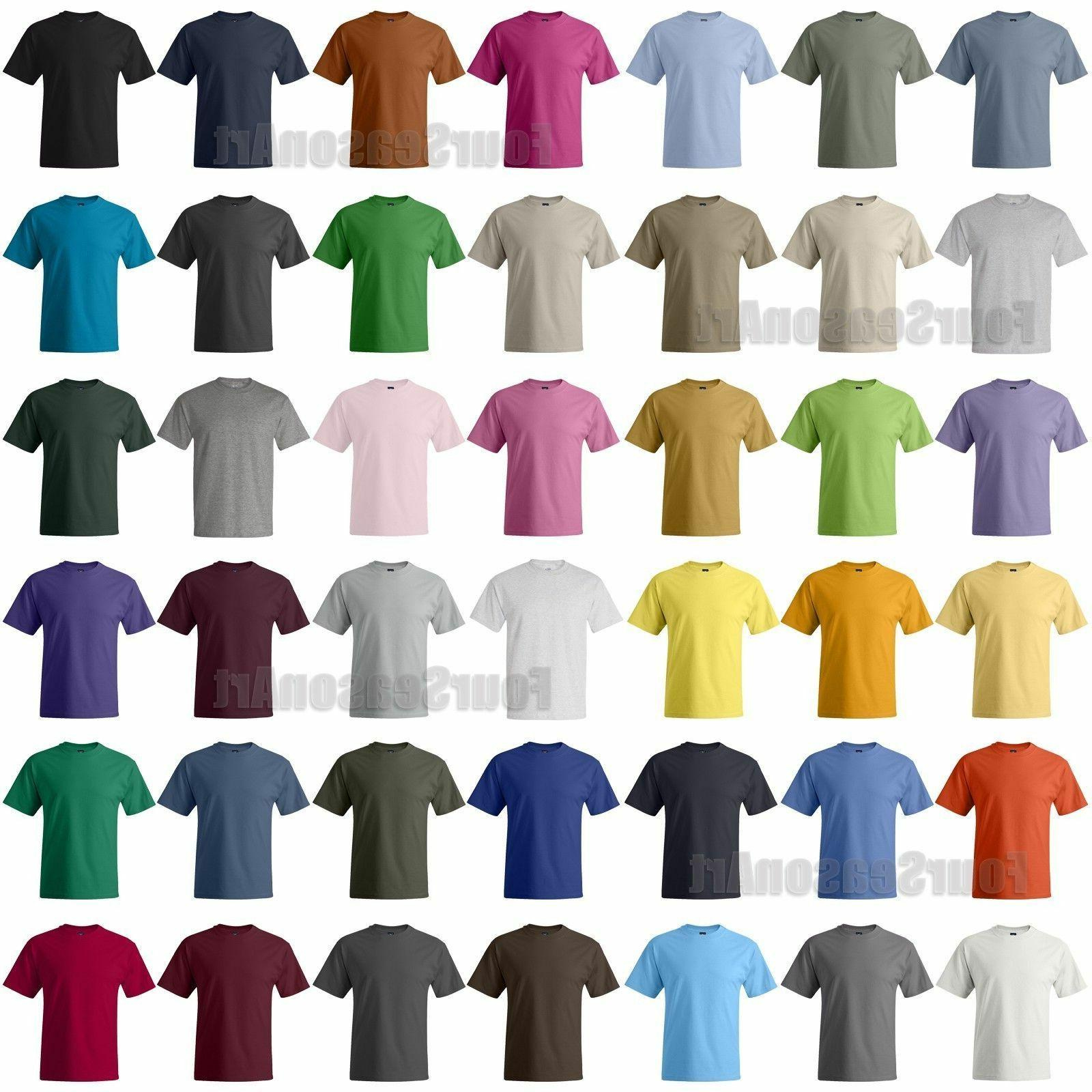 Hanes Mens Beefy T-Shirt 100% Cotton Tag free Tee sizes S -