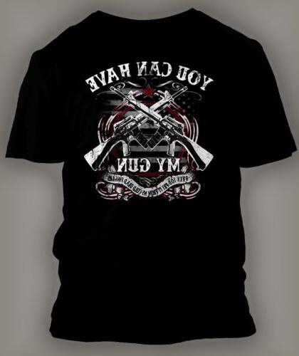 Mens Big and Tall Graphic Tee Shirt HAVE MY GUN W/CREST Clas
