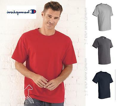 Champion Mens Blank Short Sleeve 6 oz Cotton  T Shirt T425 U