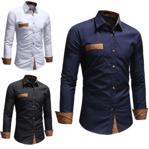 Mens Striped Dress Casual Luxury