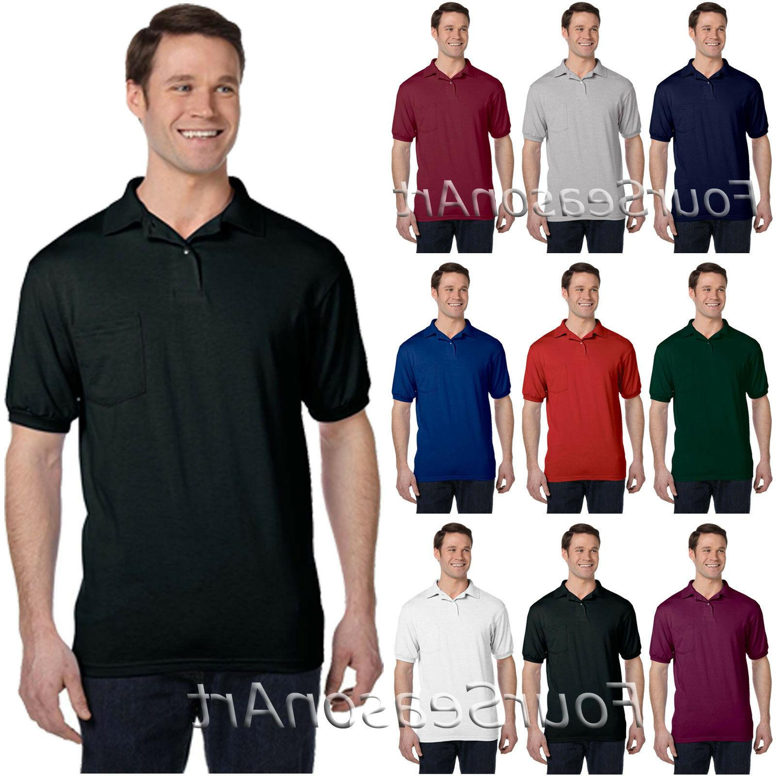 mens jersey sport polo shirt with pocket