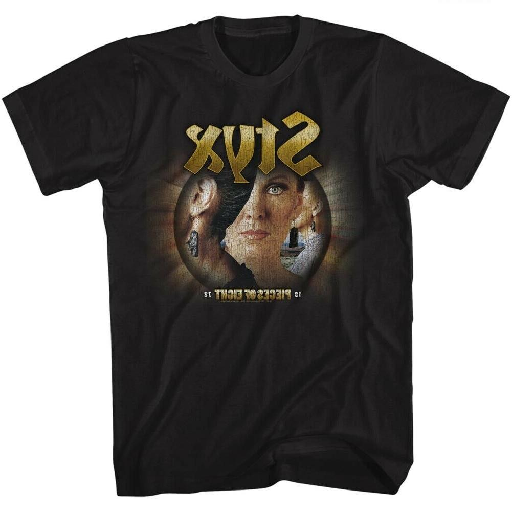 STYX Mens New T-SHIRT Pieces of Eight Tour Official BLACK Co
