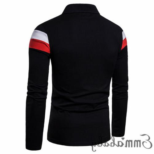 Mens T Shirt Long Sleeve Shirts Casual Breathable Soft V Tops