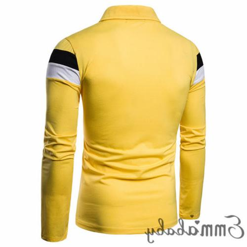 Mens T Shirt Long Breathable V Tops