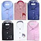 Mens Premium Designer Formal Regular Fit Dress Shirt Contras
