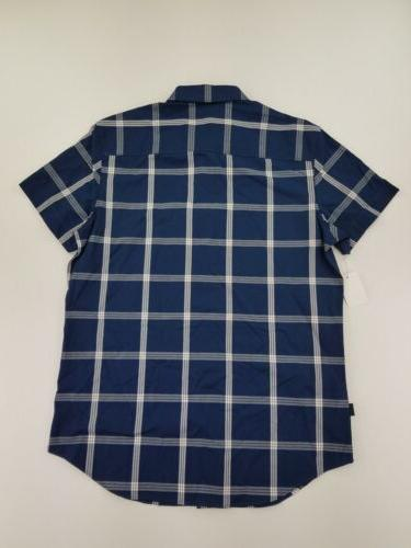Calvin Klein Small Plaid Short Button Up C39-15