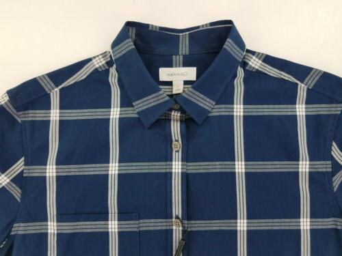 Calvin Small Short Button Up Blue
