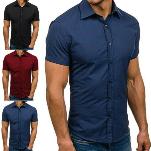 Mens Down Tops Fit Casual Dress Shirts