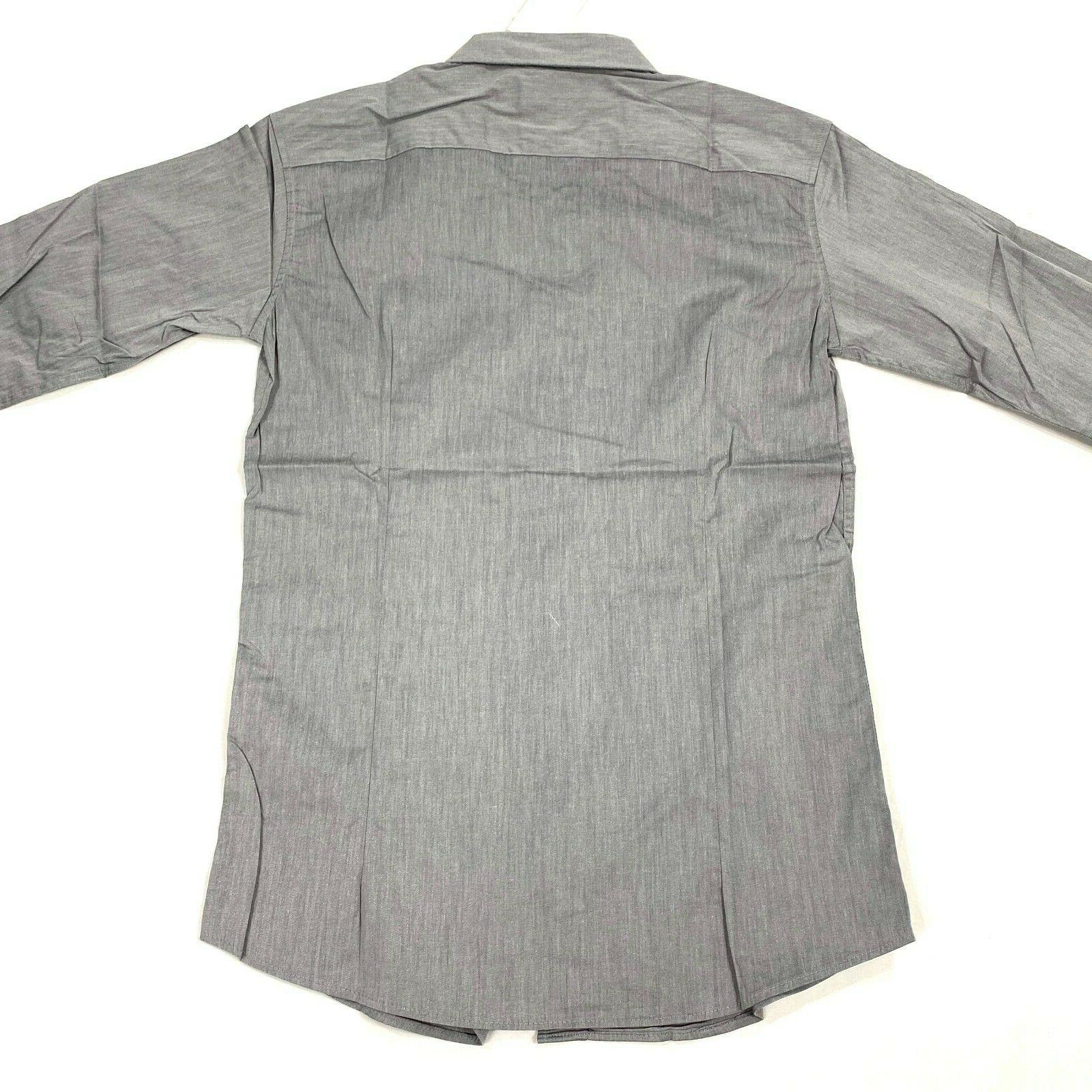 H2H mens gray size button