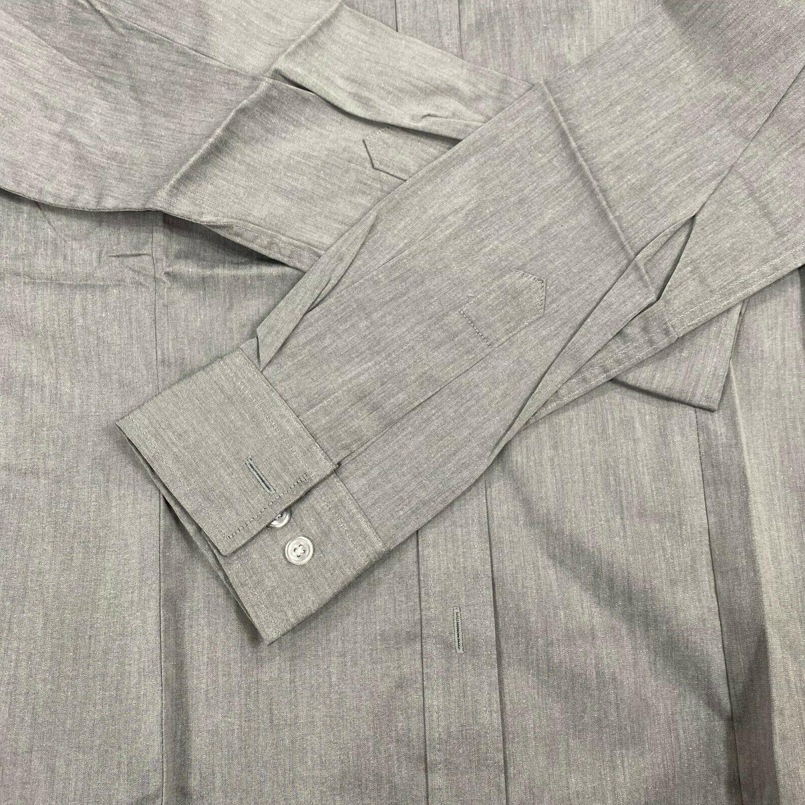 H2H fit gray size long sleeve button