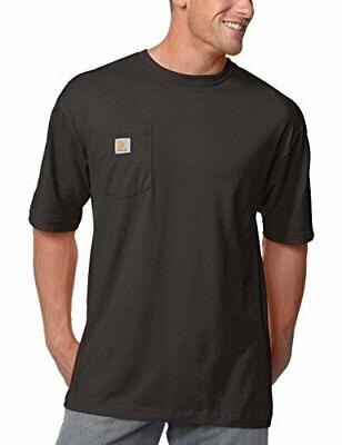 CARHARTT MENS WORKWEAR POCKET T-SHIRT - BLACK - 4XL