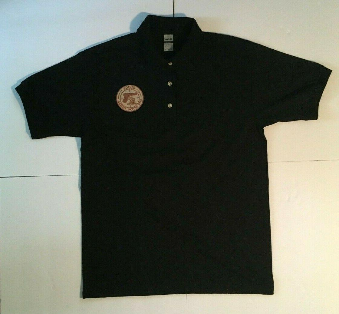new glock polo shirt black with olive