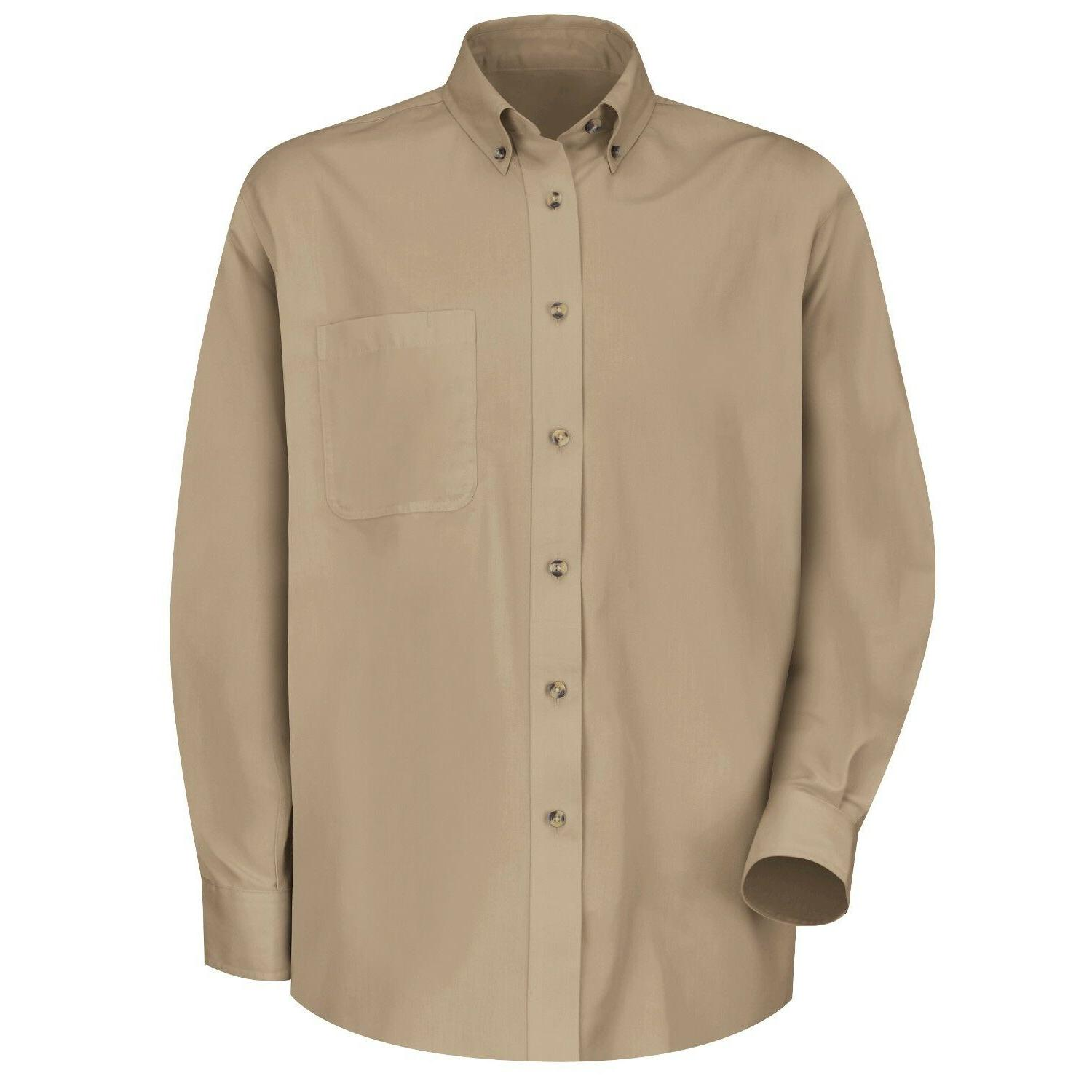 new khaki beige long sve button front