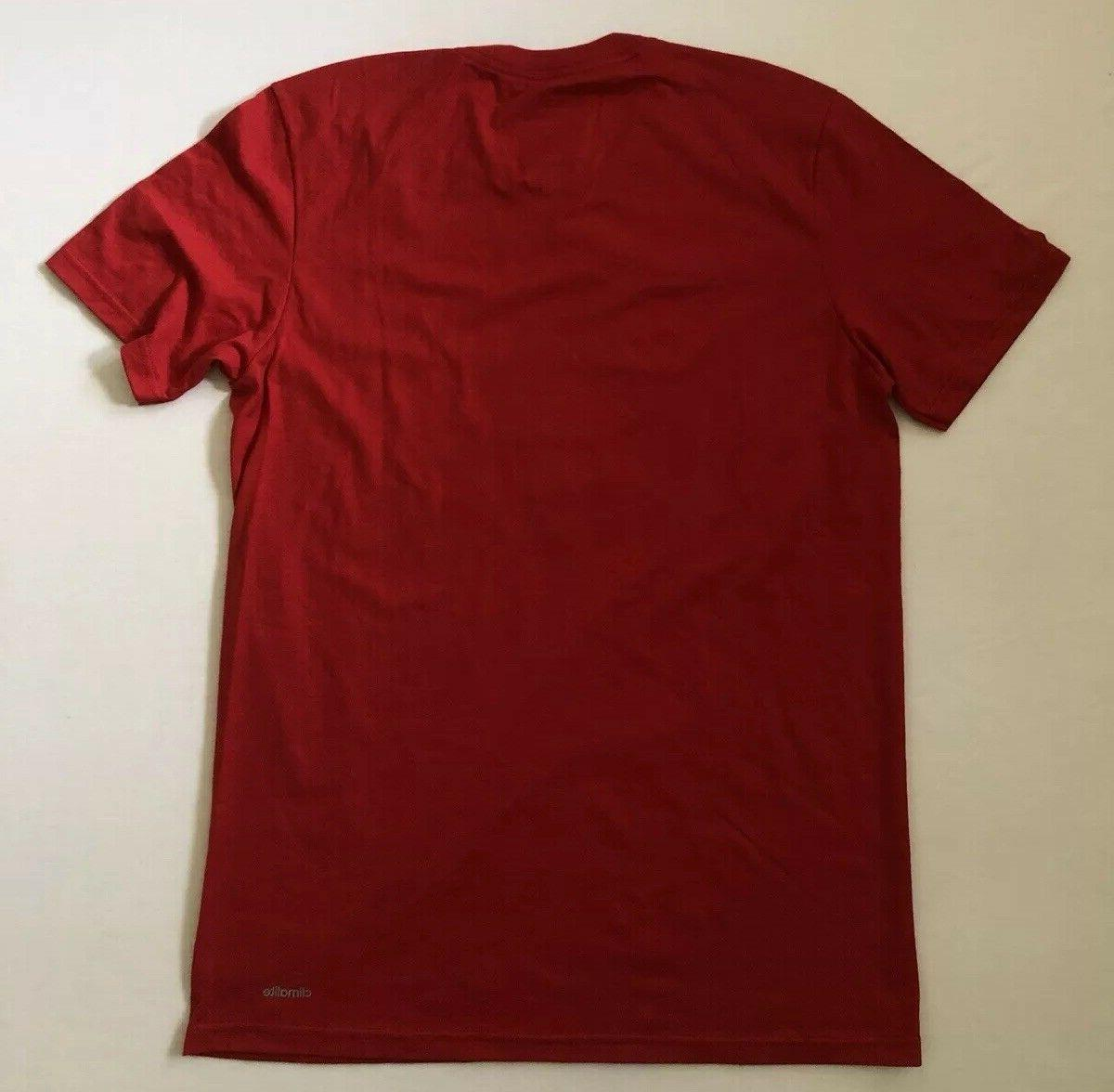 NEW Mens To Performance Gray Stripes Red T-Shirt