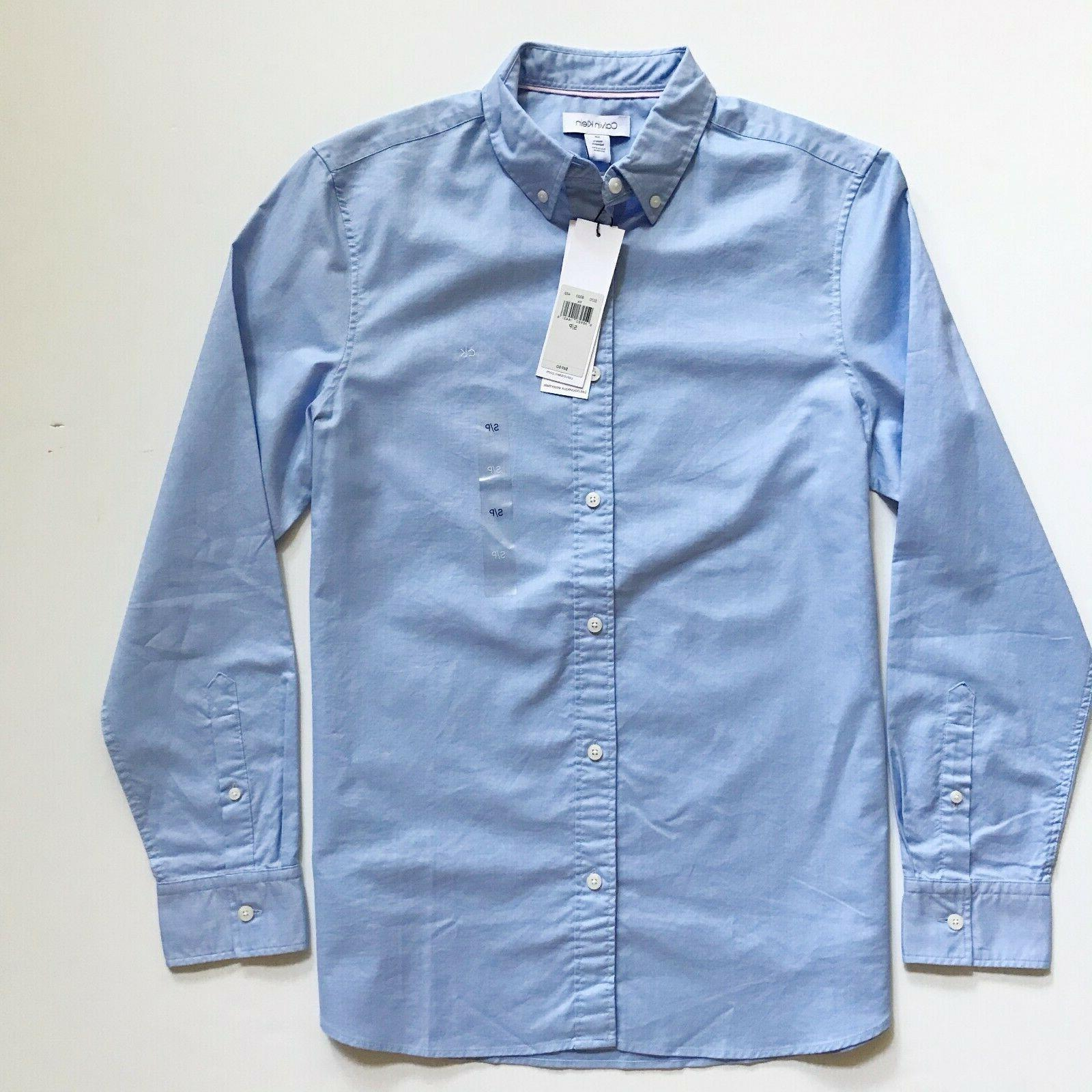 NWT Calvin Men's Essential Button Down Long Sleeve Shirt
