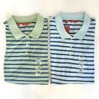 NWT MEN'S LOT OF 2 IZOD STRIPED OXFORD POLO GOLF SHIRTS Size