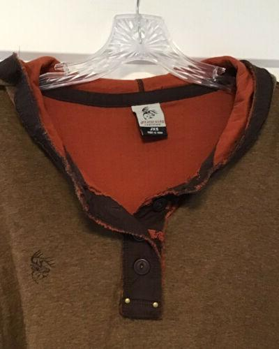 NWT Whitetails Shirt, Size Pullover Henley Hoodie
